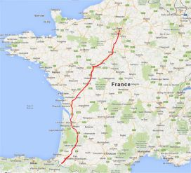 Voie de tours saint jacques de compostelle itin raire - Train from paris to st jean pied de port ...